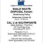 SHALE WASTE DISPOSAL Forum: Modernizing Policy